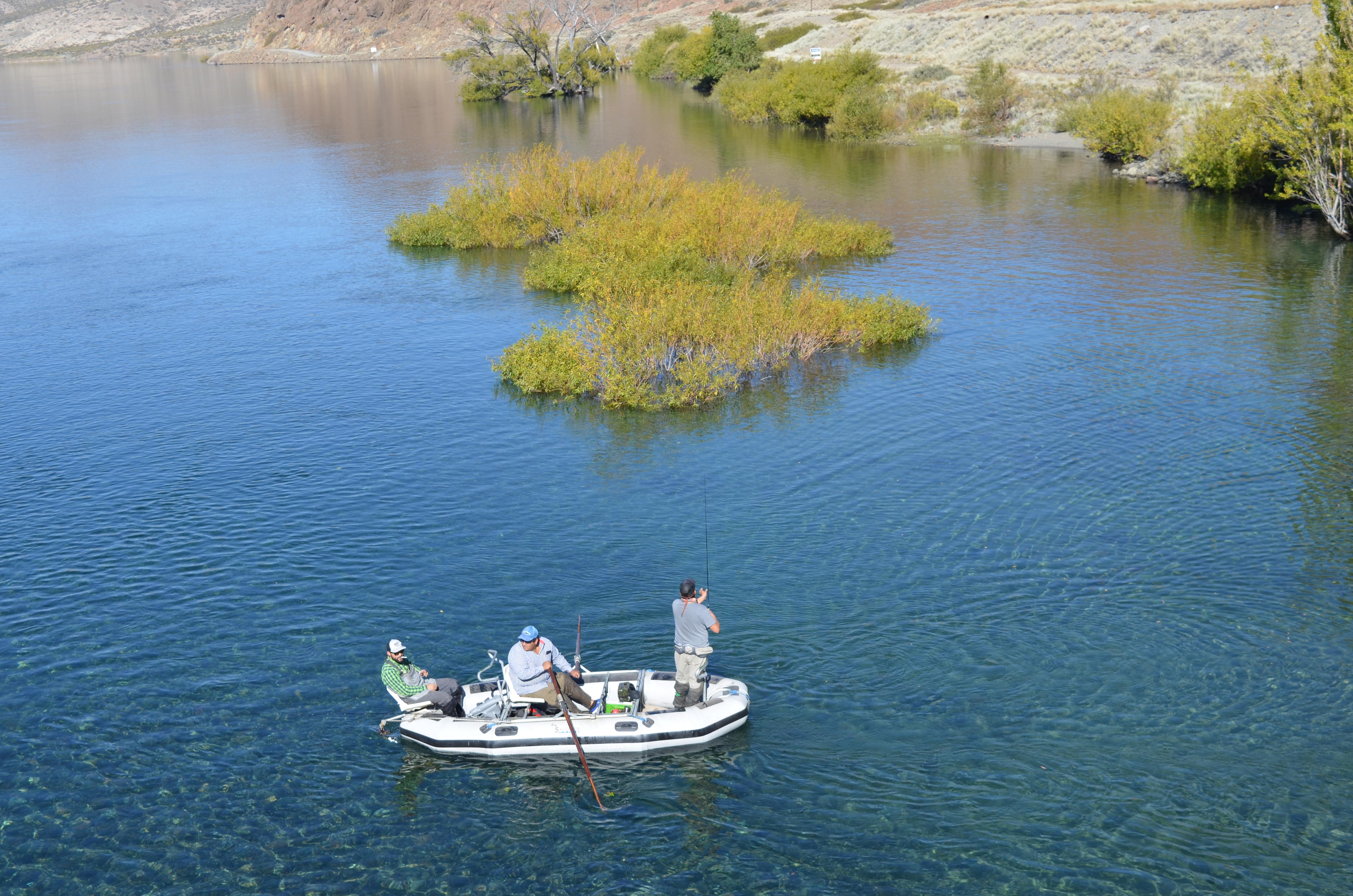 Pesca de truchas en Embalse Pichi Picún Leufú